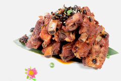 Chinese Food: Fried pork steak Royalty Free Stock Images