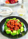 Chinese food general tso's chicken (General Chang's Chicken) Royalty Free Stock Photo