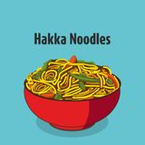 Hakka noodles vector illustration. royalty free illustration