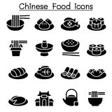 Chinese food icon set Stock Photography
