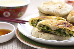 Chinese food - leek pie Stock Photography
