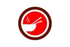 Chinese food logo vector icon stock illustration