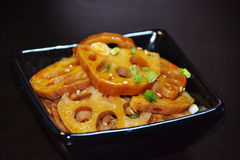 Chinese food-lotus root slices Royalty Free Stock Images