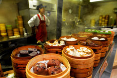 Chinese food market in Shanghai China Royalty Free Stock Photos