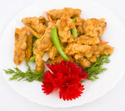 Chinese food. Meat fried in batter. Stock Photography