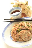 Chinese food, mince pork and lotus root stir fried Stock Images