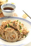 Chinese food, mince pork and lotus root stir fried Royalty Free Stock Photo