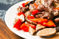 Free Chinese Food--Mushroom And Beef Royalty Free Stock Images - 30680979