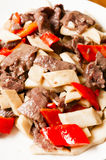 Chinese food--Mushroom and beef Royalty Free Stock Images