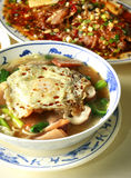 Chinese food, noodle. With egg and vegetable Stock Photography