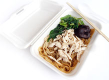Chinese food, kway tiao noodles takeaway Stock Image