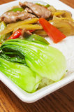 Chinese  food --Pickled cabbage beef Stock Images