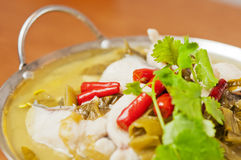 Chinese  food-Pickled fish Royalty Free Stock Image