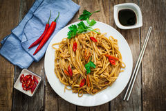 Chinese food on plate Stock Image