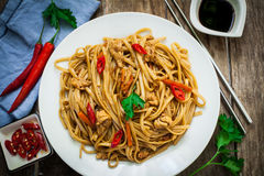 Chinese food on plate Stock Photography