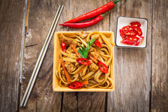 Chinese food on plate Stock Photos