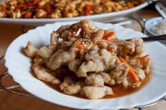 Chinese food plate Royalty Free Stock Photography