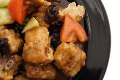 Chinese food. Pork ribs in sweet and sour sauce Royalty Free Stock Photography