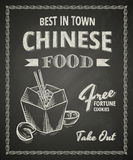 Chinese food poster Stock Photography