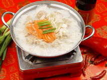 Chinese food pot. Chinese fast-food restaurant hot pot Stock Photos