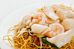 Chinese food, with prawns Stock Photos