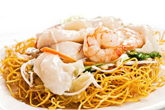 Chinese food, with prawns Royalty Free Stock Photos