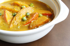 Chinese food ——pumpkin curry soup Royalty Free Stock Photos