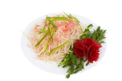 Chinese food. Raw potato salad. Royalty Free Stock Photos