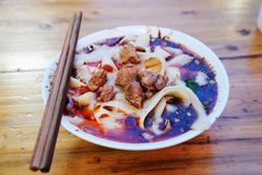 Chinese food ribs noodle Stock Images
