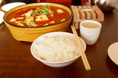 Chinese food and rice Royalty Free Stock Photos