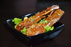 Chinese food-roast duck head Royalty Free Stock Photos
