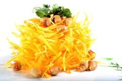 Chinese Food: Salad made of pumpkin Stock Photos