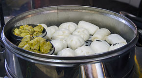 Chinese food salapao in a steel oven Stock Image