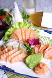 Chinese food- salmon sashimi Stock Photos