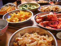 Chinese food seafood banquet Stock Photo