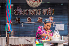 Chinese food seller Royalty Free Stock Images