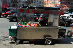 Chinese food seller in New York Royalty Free Stock Images