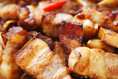 Chinese food series. Chinese food - Stir-Fried pork Royalty Free Stock Photography
