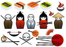 Chinese Food Set Royalty Free Stock Photos