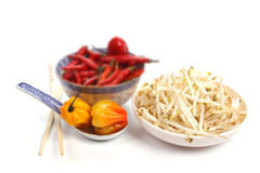 Chinese food, with shallow focus Stock Image
