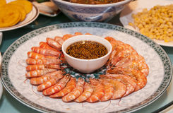 Chinese food of  shrimp Royalty Free Stock Photos