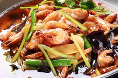 Chinese food of shrimp Stock Photography