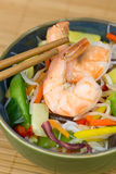 Chinese food - shrimp and rice noodle Stock Photography