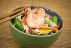 Chinese food - shrimp and rice noodle Royalty Free Stock Photos