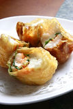 Chinese food, shrimp roll. S on the dish Royalty Free Stock Image