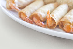 Chinese Food, Shrimp Rolls Royalty Free Stock Image