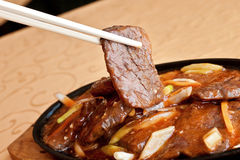 Chinese food, sizzling beef Royalty Free Stock Image