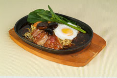 Chinese food, sizzling crispy noodle Stock Photography