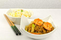 Chinese food, some plate Royalty Free Stock Images