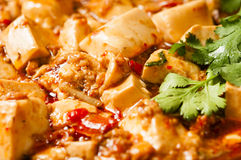 Chinese food--Spicy hot bean curd Royalty Free Stock Photo